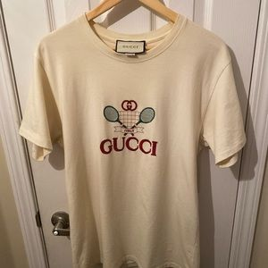 Gucci White T-Shirt with Gucci Tennis